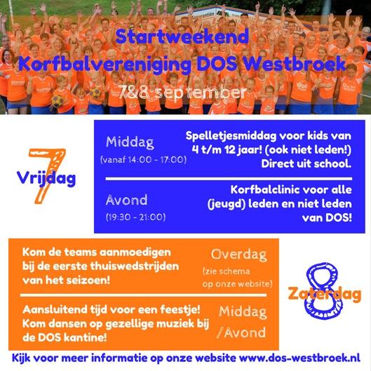 Uitnodiging Startweekend DOS